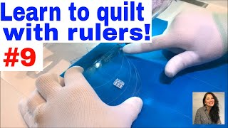 """Learn to quilt with rulers!  Part 9 using the 6"""" Spiral template"""