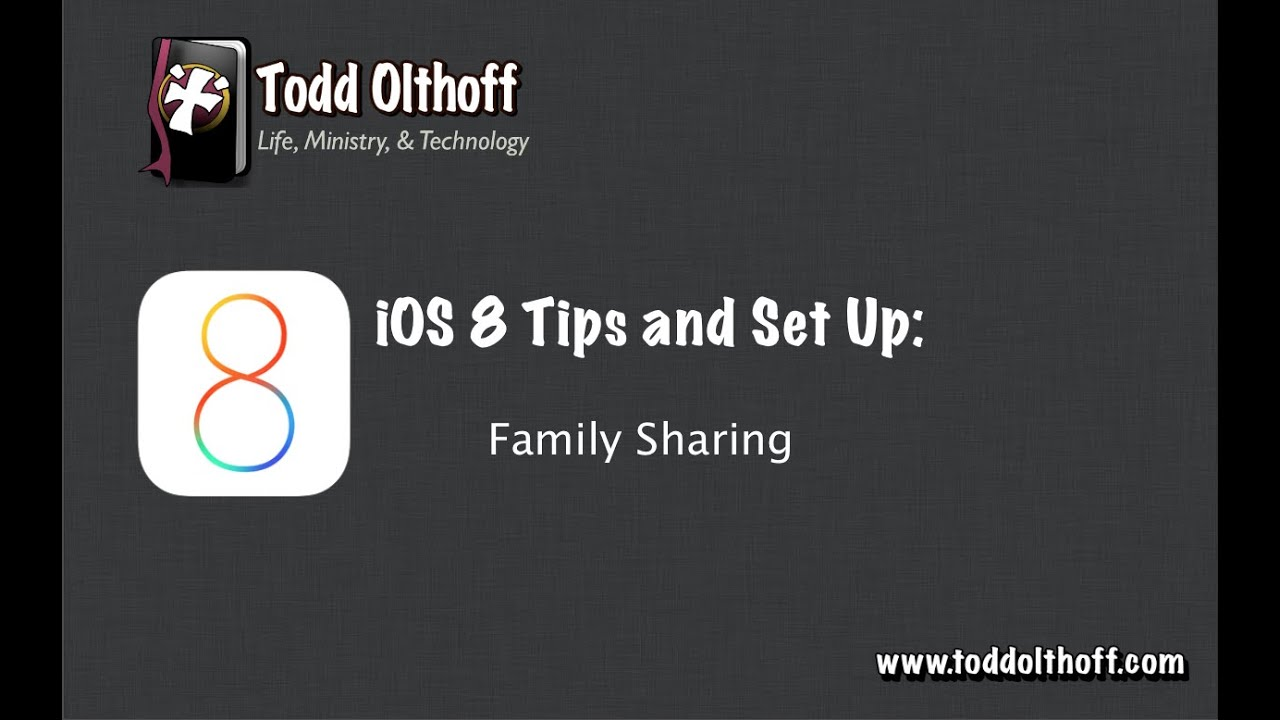 iOS 8 Tips & Set Up Part 1: Family Sharing