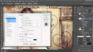 How To Carve A Name And Heart Into Wood With Photoshop