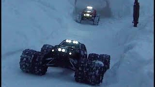 "Traxxas summit 8 Tire Dually Pro-line Dodge Ram 3.8"" Trenchers Snowy Trails"