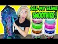 MIXING ALL MY SLIME SMOOTHIES TOGETHER IN A GIANT SLIME SMOOTHIE! + AQUARIUM SLIME | NICOLE SKYES