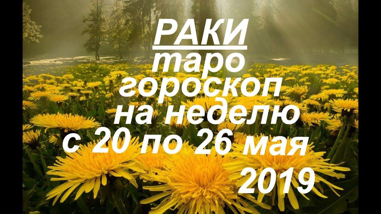 Раки.Таро гороскоп на неделю с 20 по 26 мая.2019