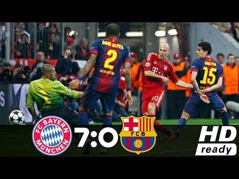 Бавария - Барселона 7-0 Highlights &All Goals