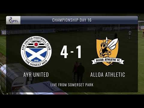 Ayr Utd Alloa Goals And Highlights