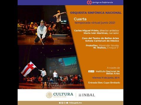 Alexander Nevsky de Prokofiev y Enrique V de Walton/ Orquesta Sinfónica Nacional / INBAL / México