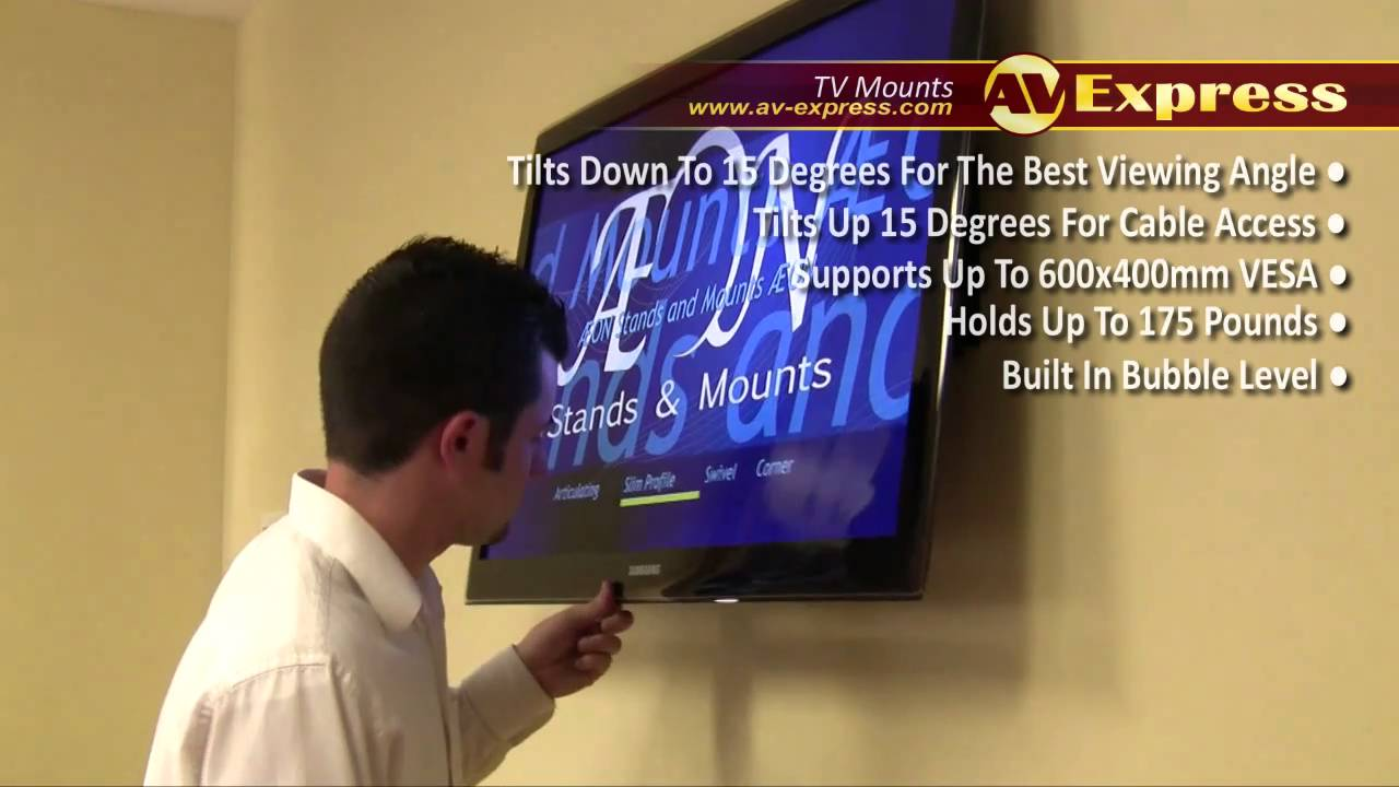 On Wall TV Mount -- Tilting Wall Mount Review   AV-Express - YouTube