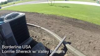 Landscape curbing - Ends, downspouts, and drainage for curbing.  Borderlineusa.com