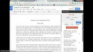 Quick Bibliographies with EasyBib Add-On for Google Docs