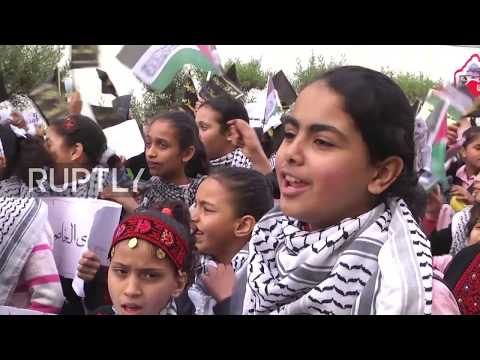 State of Palestine: Gaza children stage protest over Trump's Jerusalem decision