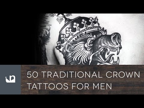 50 Traditional Crown Tattoos For Men