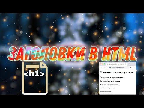 HTML для начинающих. Заголовки в HTML. Форматирование текста в HTML. Урок 2