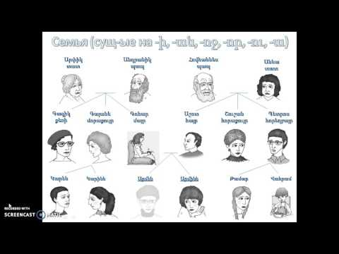 Армянский язык онлайн: семья (склонение существительных)
