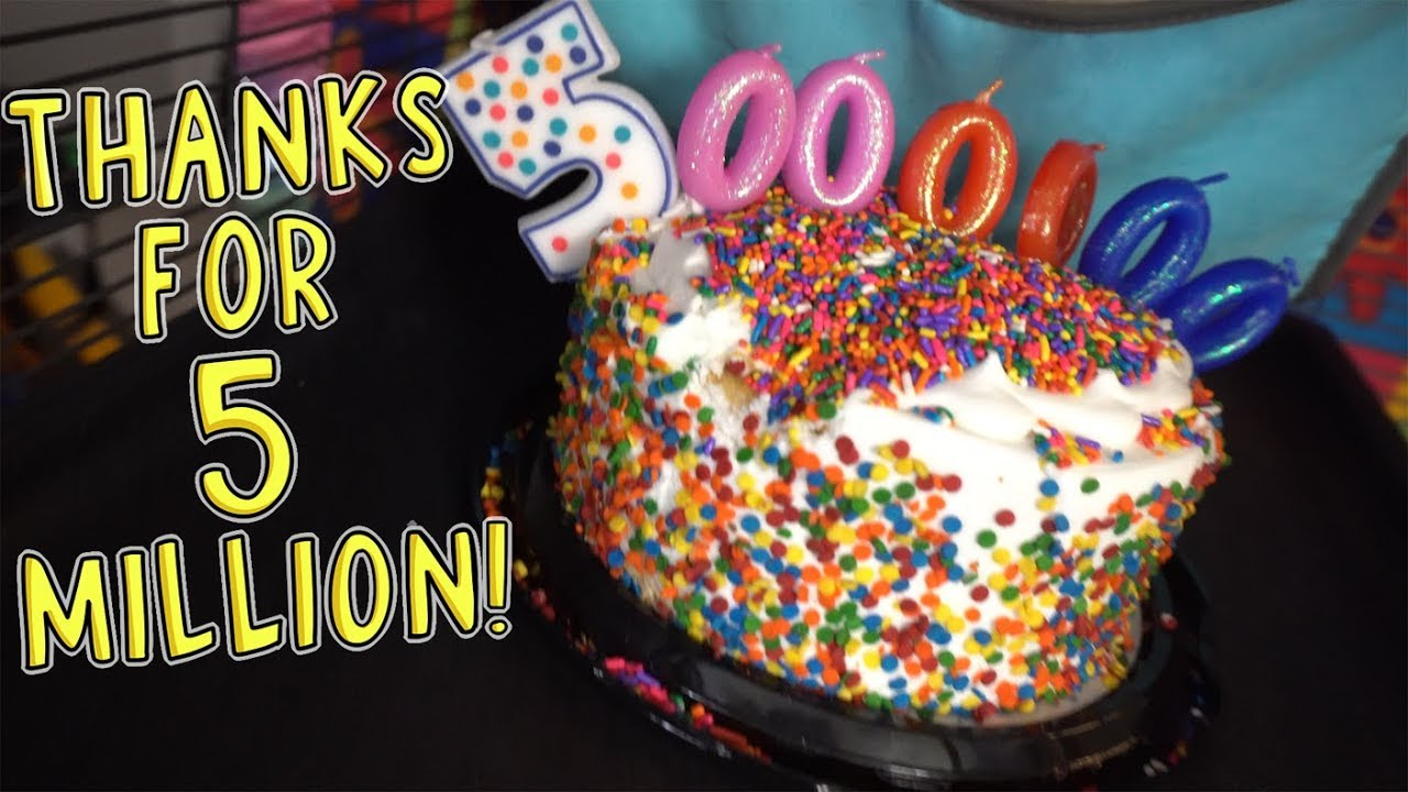 Thanks for 5 million (sorry no sprinkles) (I'll delete this later) - a the title says