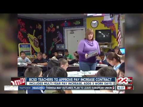 Bakersfield City School District approves pay increase contract