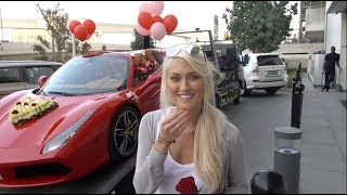 Insane Valentine's Surprise - a Ferrari with 1000 Roses!!