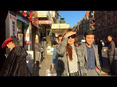 LONDON WALK | Brompton Road, Knightsbridge from the V&A to Harrods and Harvey Nichols | England