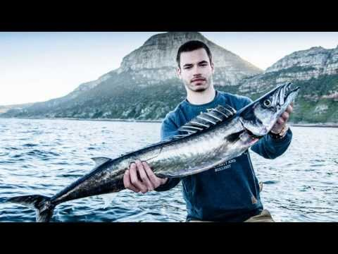 Cape Snoek fishing at Cape of Good Hope, South Africa