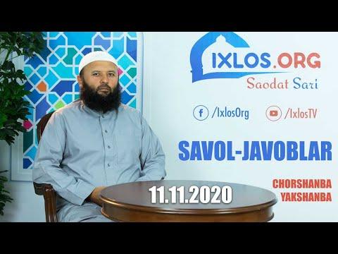 Savol-javoblar    11.11.2020