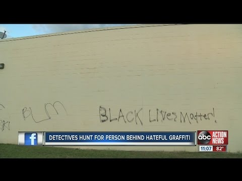Detectives hunt for person behind hateful graffiti