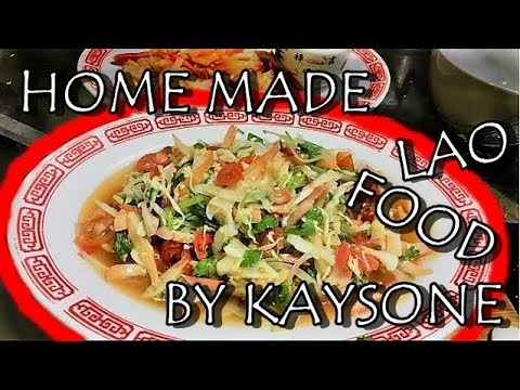 How to make Surf clam salad (Lao Food) Home Made By Kaysone