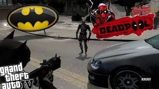 GTA IV Batman Mod vs Deadpool X Force Uniform - The Anti Hero vs The Hero