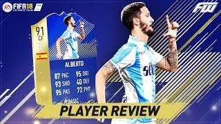 Fifa 18 tots luis alberto player review (91) the best 80k you'll ever spend!