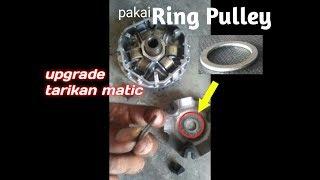 Pakai ring pully, Matic rasa motor trail! Tarikan vario enteng, modal ring bekas plat nomor.!