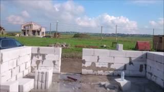 Строим дом из газобетона . Четвертый ряд закончен, армирование.(, 2016-05-22T19:25:06.000Z)