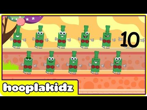 Ten Green Bottles | Nursery Rhymes | Fun Rhymes by Hooplakidz