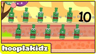 Ten Green Bottles | Nursery Rhymes | Fun Rhymes by Hooplakidz