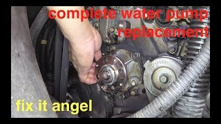 not too bad [DETAILED] Buick Rendezvous water pump replacement √ fix it angel
