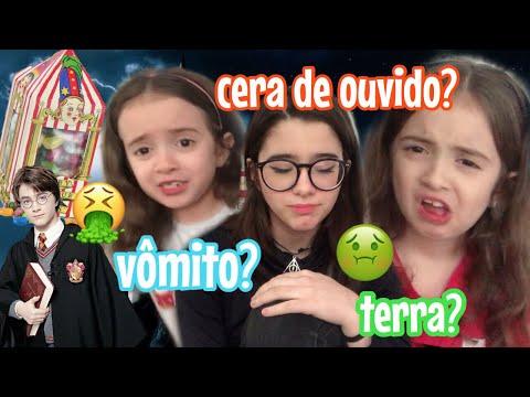 Experimentando FEIJÕEZINHOS do HARRY POTTER ft. Minhas Irmãs Gêmeas|Lauraa Menezes