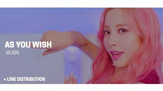 Cosmic Girls (WJSN) - As You Wish (Line Distribution)