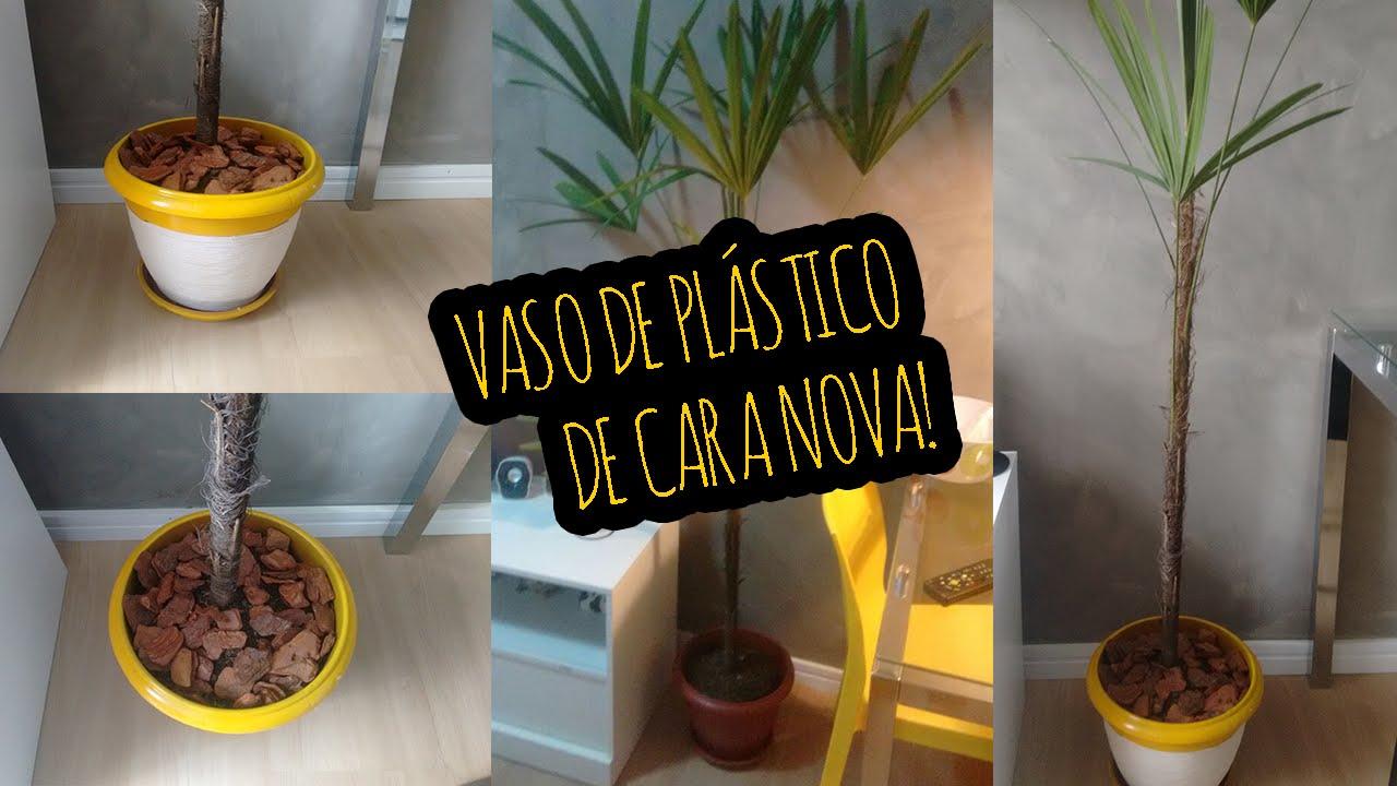 Customizando um vaso de pl stico youtube - Decorar vasos plasticos para cumpleanos ...