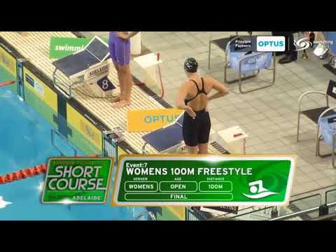 Cate Campbell World Record 100 Free Style SC - Adelaide 2017 (With Audio)