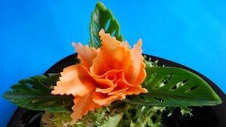 Kwiatek z marchewki. Decoration of carro...