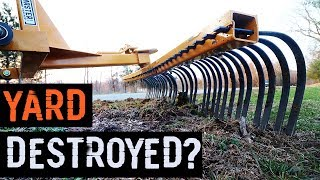 Tractor Landscape Rake - The County F**ked up!