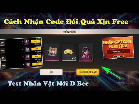 [Garena Free Fire] Cách Nhận Code Nhận Quà Trang Phục Miễn Phí, Test Nhân Vật Mới D Bee