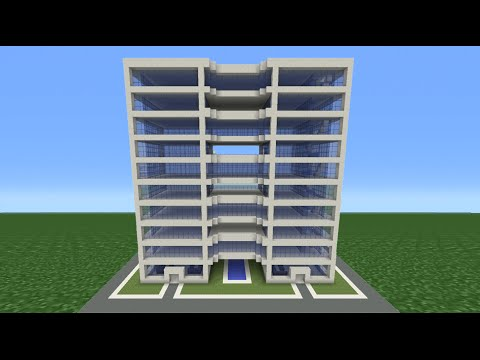 Minecraft Tutorial How To Make A Modern Hotel 4 Youtube