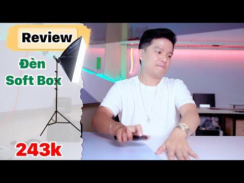 Review | Đèn Live Stream Giá Rẻ, Chụp Ảnh Sản Phẩm, Softbox Quay Phim , Quay Vlog | Duy Vũ Store