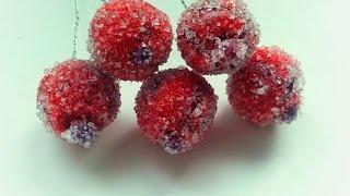Мастер класс канзаши.Сахарные ягодки своими руками.DIY Kanzashi sugar berry