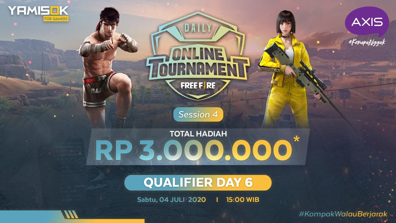 [LIVE] Axis Daily Tournament Free Fire #4 Qualifier Day 6 | 4 Juli 2020