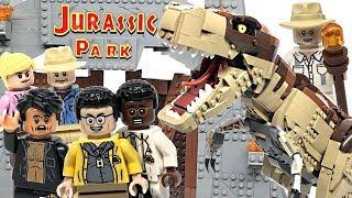 LEGO Jurassic Park T. Rex Rampage review! 2019 set 75936!