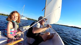 8 Year Old Molly Learning How To Sail A Dinghy | UNEDITED