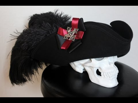 DIY Pirate Hat Gothic Tricorne