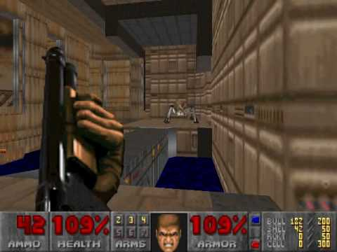 Doom 2 No Rest For The Living Map01 The Earth Base Youtube