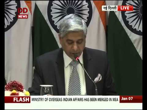 Overseas Indian Affairs Ministry merged in MEA