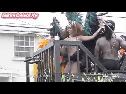 Rihanna Carnival Queen of Barbados Kadooment Day Parade Festival. Aug 2015 [Paparazzi Video]