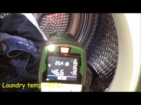 bosch HomeProfessional tumble dryer end of mix cycle and drying temperature