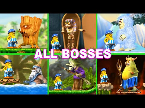 Incredible Jack All Bosses Jumping & Running (treetops, Sand-filled Tombs, Icy Caves, Lava Pits)
